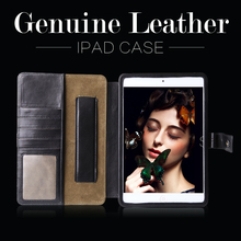 Genuine leather case for apple ipad for ipad mini 4 tablet case china suppliers