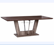 wood 2 meter big size ALONZO DINETTE SET MDF dining table set with wood top wood legs hot sell dining table