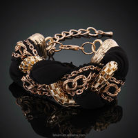 Attractive Design Expandable Rope Crystal Ladies Bracelet Models