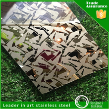 Trade assurance supplier of mirror etched 201 stainless steel sheet for construction