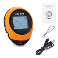 Handheld Keychain PG03 Mini GPS Navigation USB Rechargeable For Outdoor Sport Travel,yellow