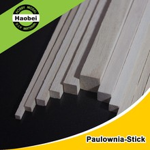 China factory square wood pole paulownia wood sticks