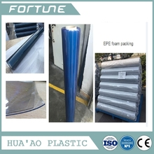 Hot 2015 Chinese super clear pvc film blue Color