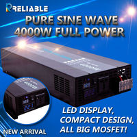 manufacturer supply 12v 24v 48v dc to 110v 220v ac 4000w pure sine wave solar power inverter