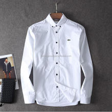 Manufactures custom brand button down oxford casual dress shirt for men