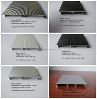 75mm/100mm/120mm/150mm Never Rust Waterproof high quality Kitchen Skirting Board Aluminum Skirting Board