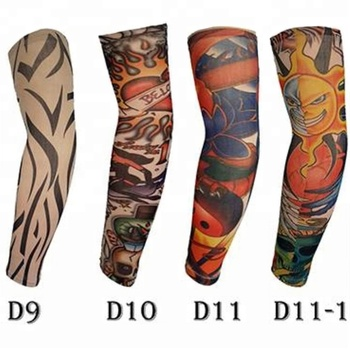 KaPin fashion men women seamless elastic tattoo printed arm sleeves