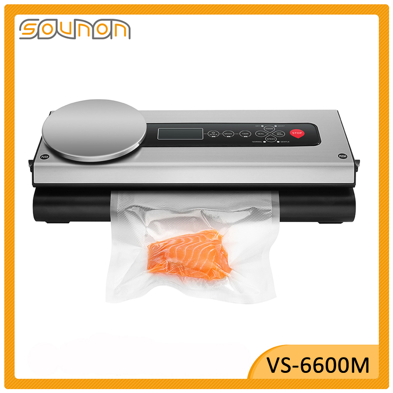 New Kitchen Appliances stand type popular food Vacuum Sealer machine with Kitchen Scale VS6600M