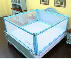 2017 Baby Bed Rail Guardrail Safe Cradle Fence 150cm 180cm 200cm Size sleep bed rail four sided swing down security crib rail