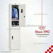 School bedroom furniture 2 door metal wardrobe interior