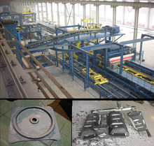 V-process casting machines for foundry metal castings