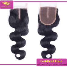 Premiun quality body wave 100%peruvian virgin hair lace with baby hair and bleach knots