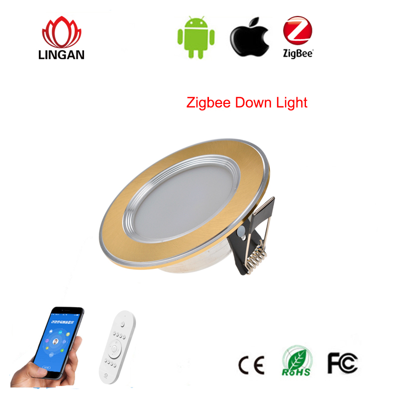 Smart device Control APP link Zigbee technology Smart 5/6 inch led downlight