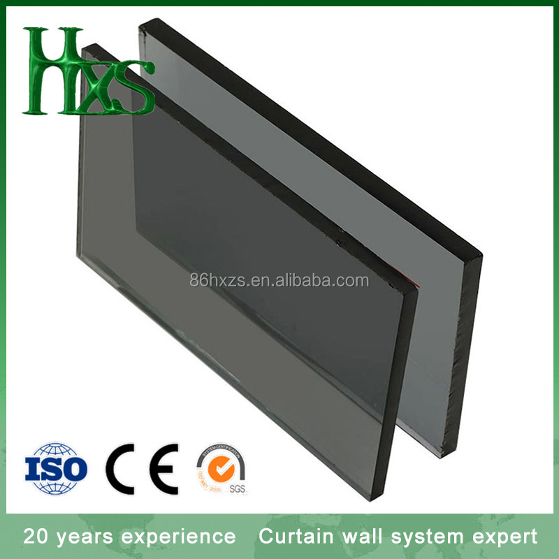 Alibaba Trade Assurance High Quality 6mm Euro Grey Heat Strengthened Glass
