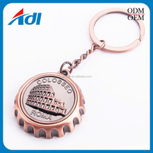 China manufacturer promotion 3D Antique bronze metal keyring key chain