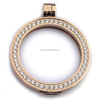 New mi 35mm coin holder necklace pendant fit my 33mm coins white crystal woman gift decorative fashion jewelry locket