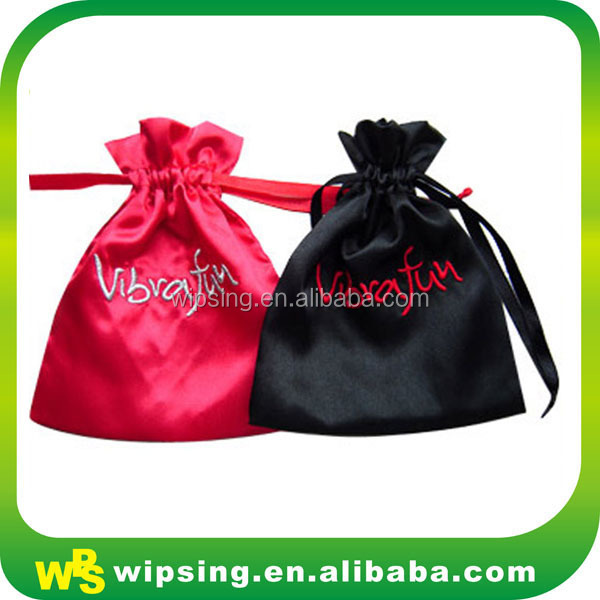 Custom Logo Embroideried Satin Jewelry Bags Wholesale