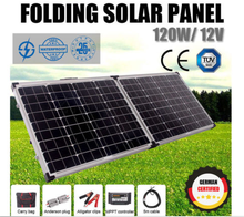 12V 120W Monocrystalline Silicon Solar System Portable Folding Solar Panel for sale