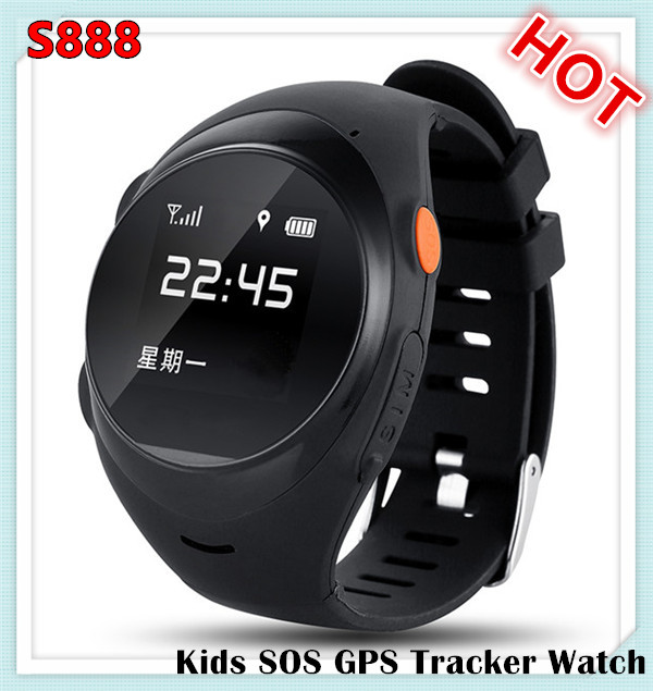 MTK6260 S888 Sim card SOS Android smart watch kids gps adult tracker watch phone for kids/old people