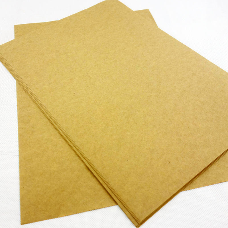 A4 Kraft Paper 120g wood pulp brown carton paperboard <strong>100</strong> Sheet/Pack free shipping