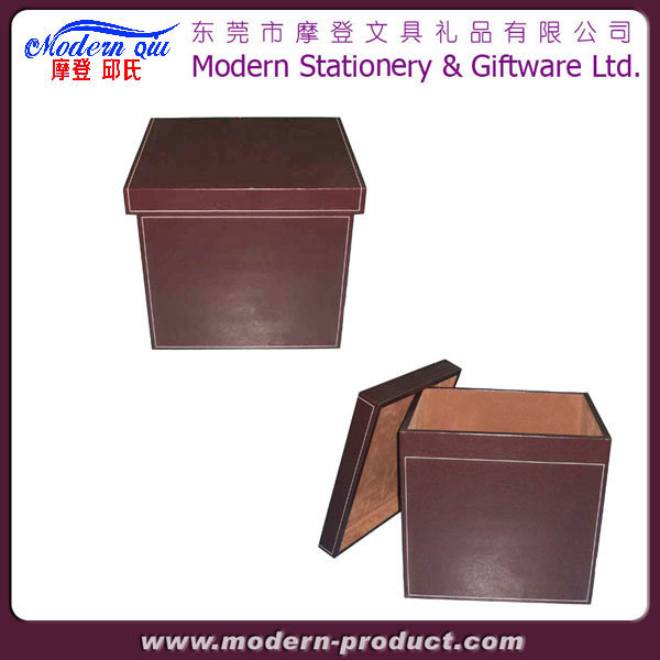 Book Shape Magazine Archive File Leather Document Storage Box