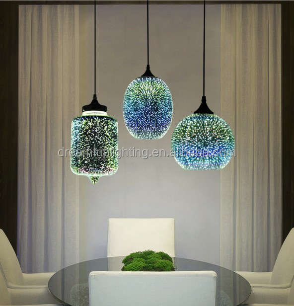 Post morden classed glass chandelier ball shaped fireworks light