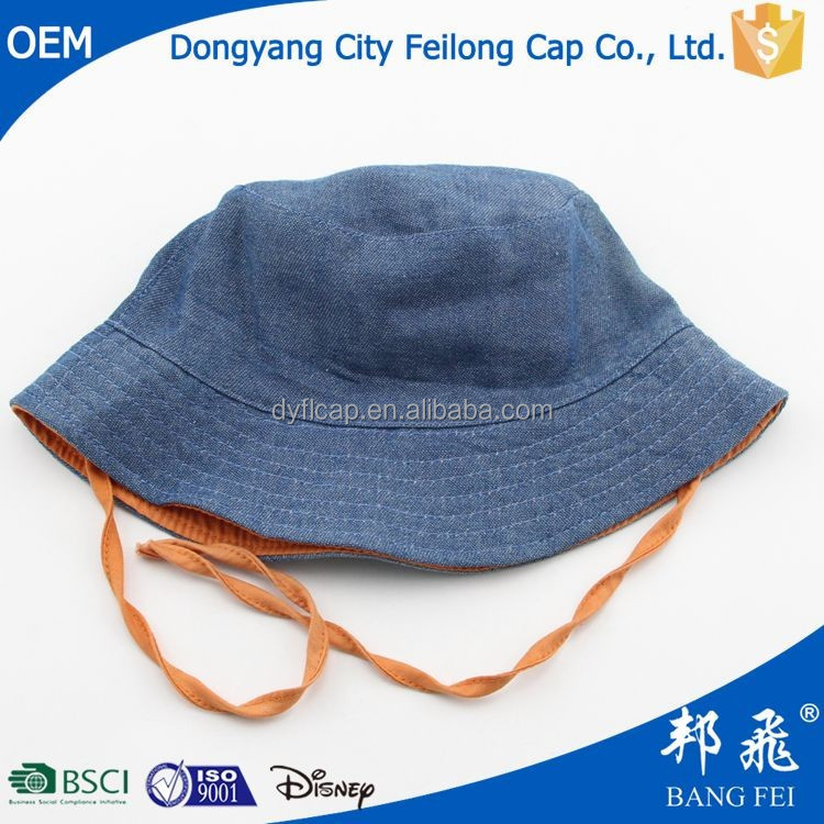 newborn baby outdoor fishing hat plain bucket hat with string wholesale