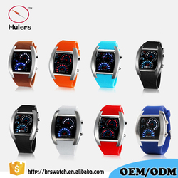 Fashion Sports Flash LED Car Speedometer Meter Dial Men Watch