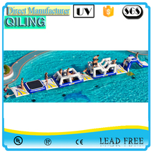 Colorful and fun customized designed big inflatable waterpark, adult water amuse world/water slide for sale