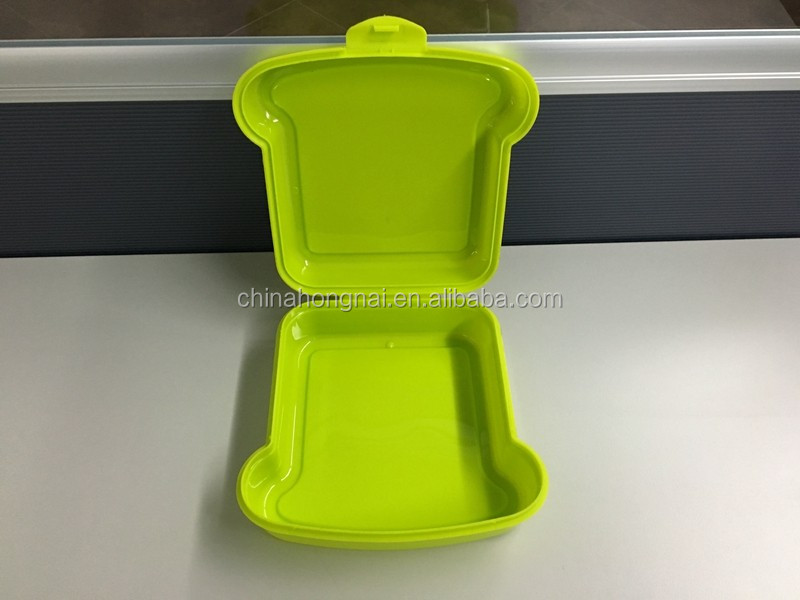 plastic sandwich container for slice, sandwich lunch box