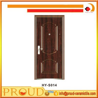 cheap price soudproof interior steel security door/ iron door 2050*900*50/70mm