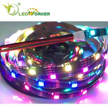 Top Sales Factory Price Apa102 30 32 48 60 72 144 Addressable Rgb Led Strip for Project Customer