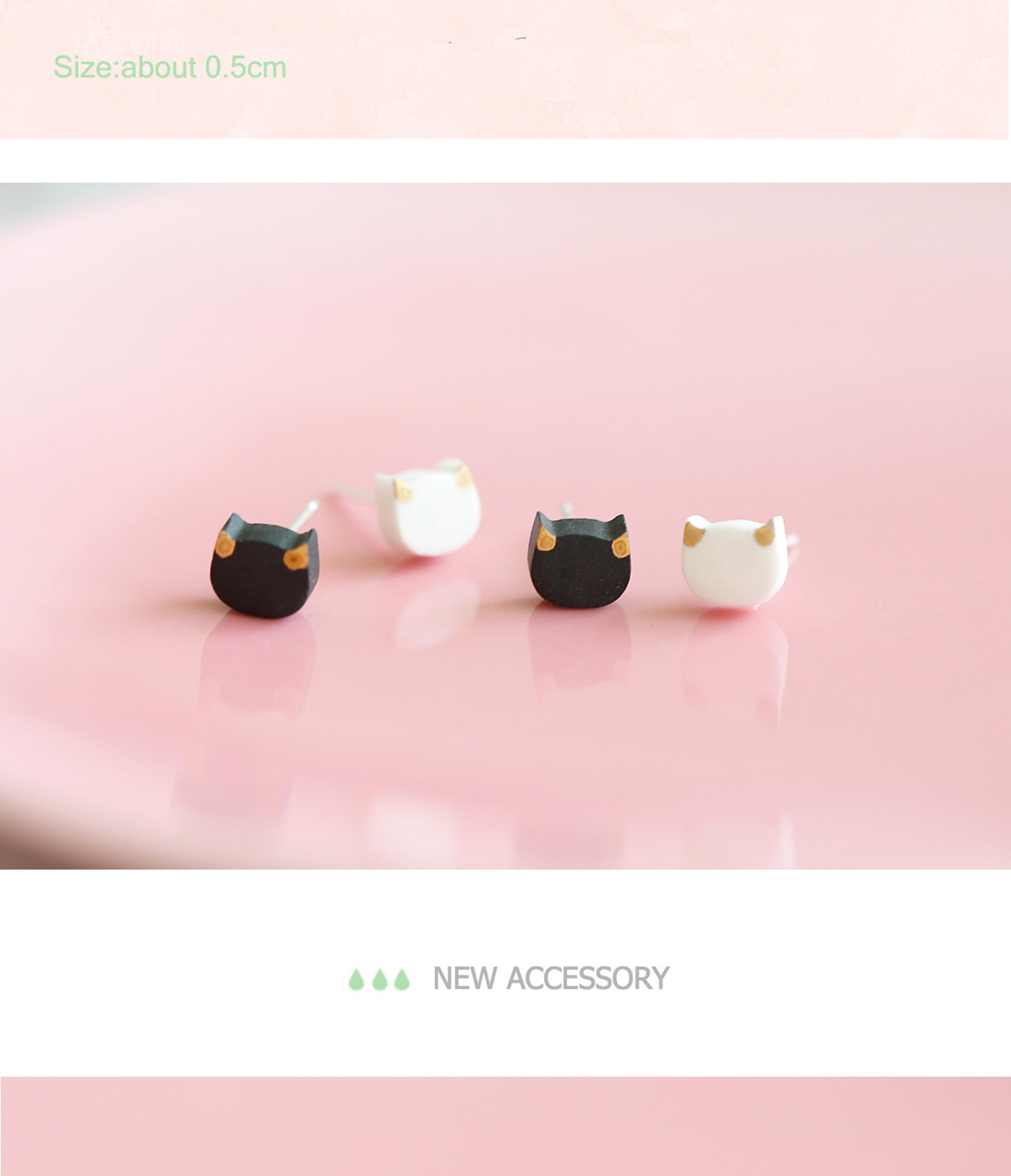 cat earrings ear stud earrings new product fashion accessory latest girls earrings stud wholesale free sample