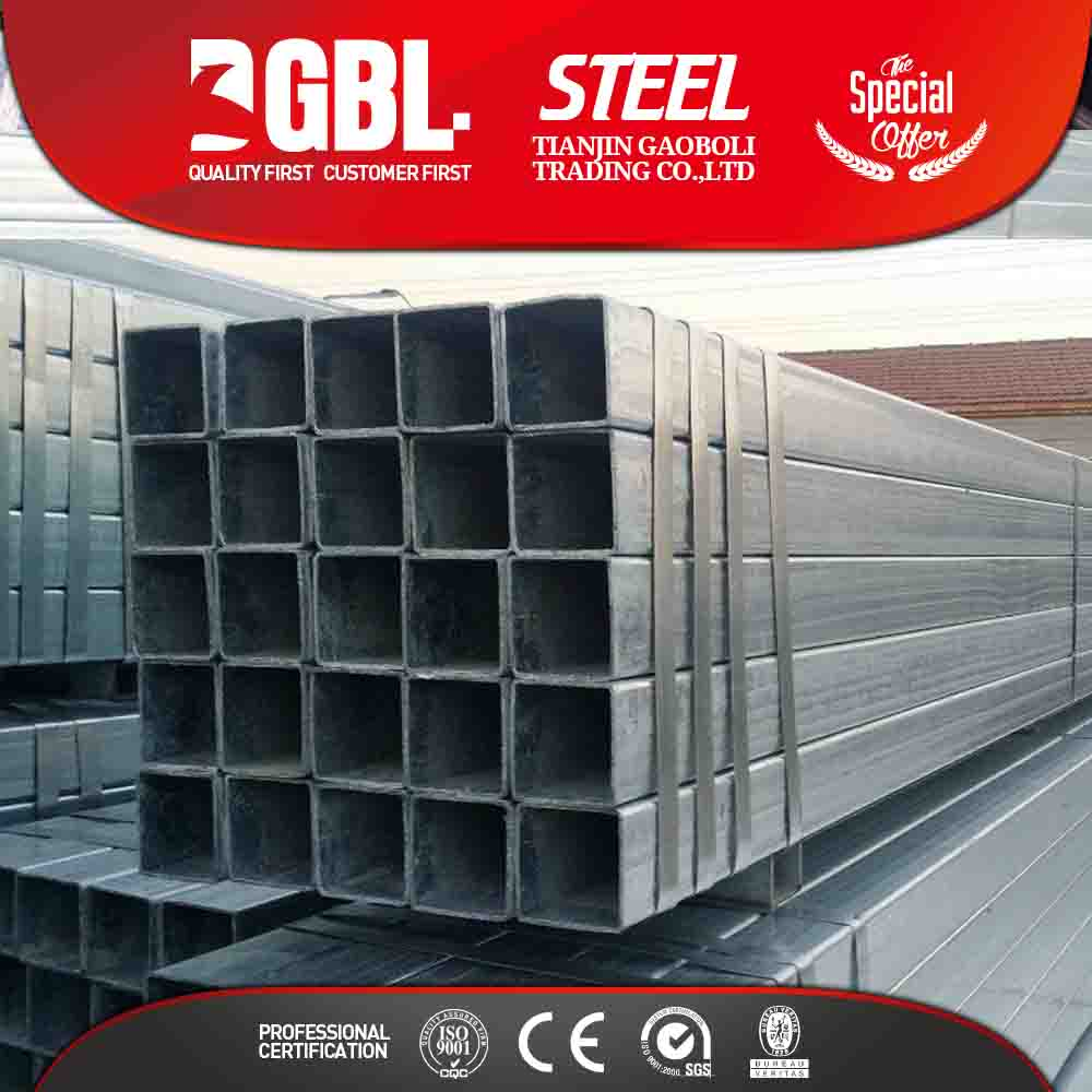 china supplier free samples GI square steel tube price per kg