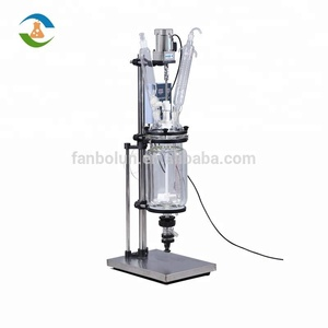 CE ISO Approved 5L Chemical Double Layer Glass Reactor