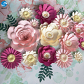 Wholesale popular Wedding diy paper flower wall for wedding decoration