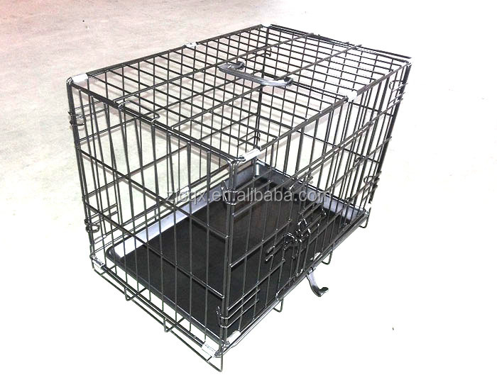 "18"" 24"" 30"" 36"" 42"" 48"" general cage slant-front collapsible dog crate"