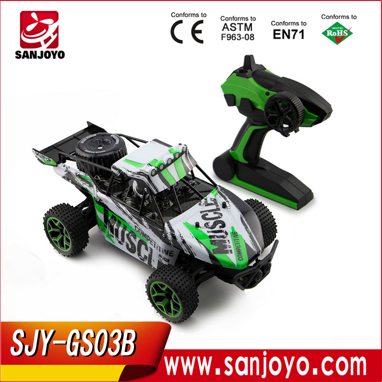 Competition Muscle Remote Control RC Truggy Truck Buggy 1:18 Scale 4 Wheel Drive 4WD Rechargeable GS03B