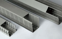 Grey Cable Trunking,PVC slotted Plastic Cable Trunking