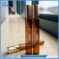 10ml amber tester glass roll on bottle vial with screen printing (1time)