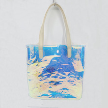Laser Print PVC Shoulder Bag lady shoulder bag Glitter Handbag