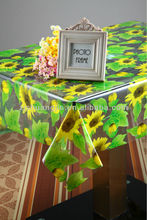 transparent printed pvc sunflower tablecloth rolls