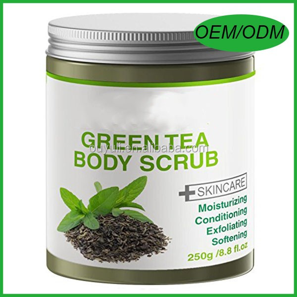 Private Label Green Tea Scrub - with Dead Sea Salt