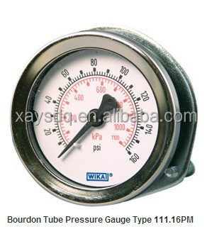 original germany WIKA Bourdon Tube Pressure Gauge Type 111.16PM Panel Mount Gauge Standard Series