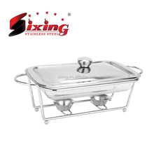Square-shaped Glass Food Warmer/ Chafing Dish/Soup Warmer