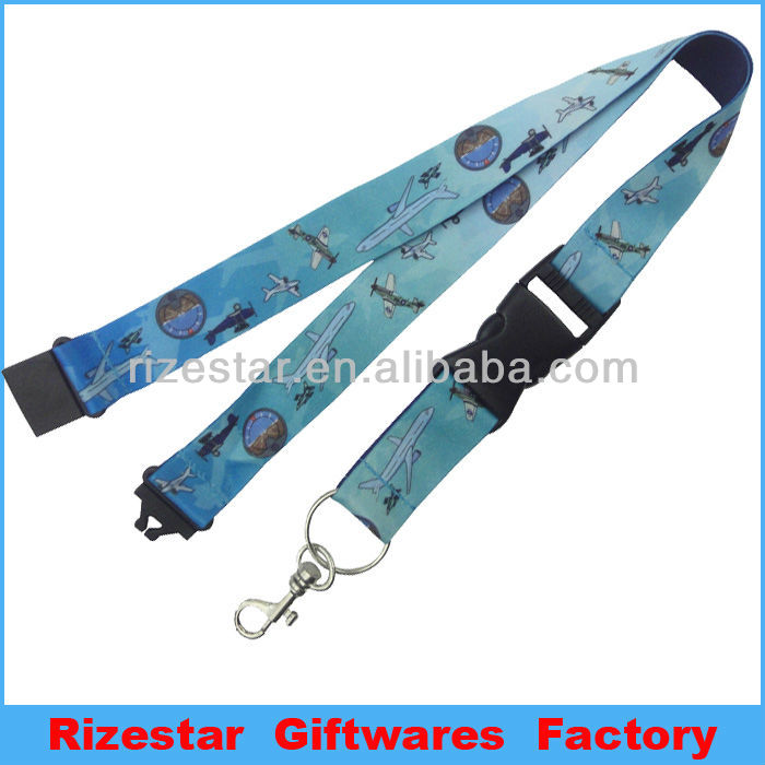 airplane design printed polyester lanyards for kids