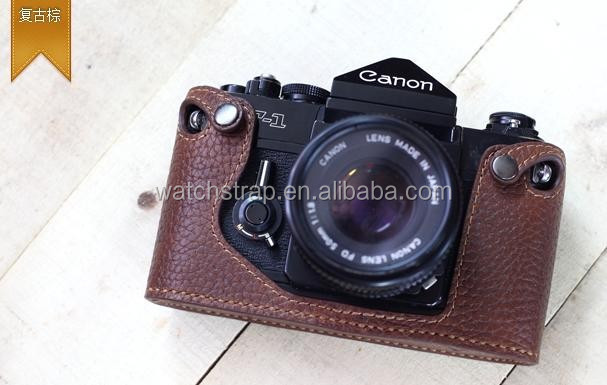 New arrival fashion genuine leather camera cover protector