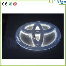 Led Lighting Car Logo Illuminated Backlit 3D Car Company Name Sign