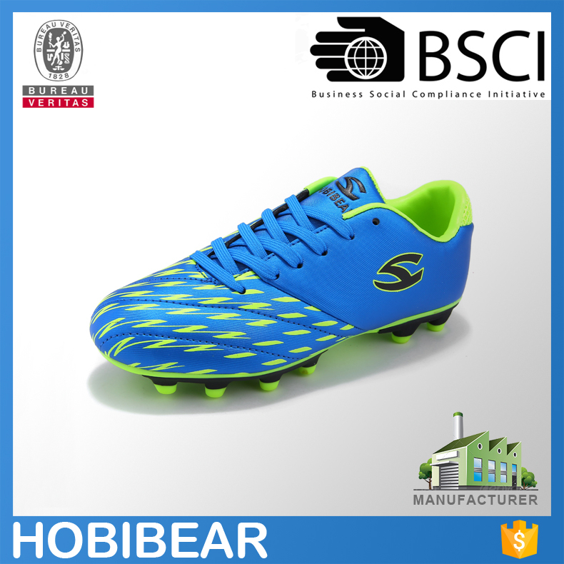 HOBIBEAR new boy branded football shoes wholesale soccer shoes soccer cleats