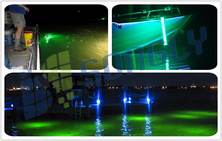 submersible fish attract underwater led fish attracting squid, Reel Combo